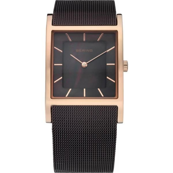Bering Time Women's Slim Watch Brown/ Goldtone Watch