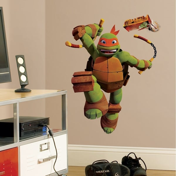 Teenage Mutant Ninja Turtles Mike Peel & Stick Giant Wall Decals 11187614