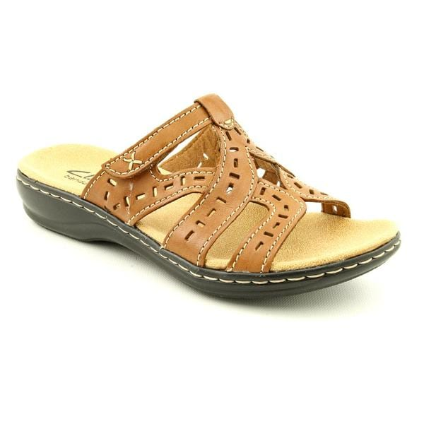 Clarks Women's 'Leisa Truffle' Leather Sandals - Wide
