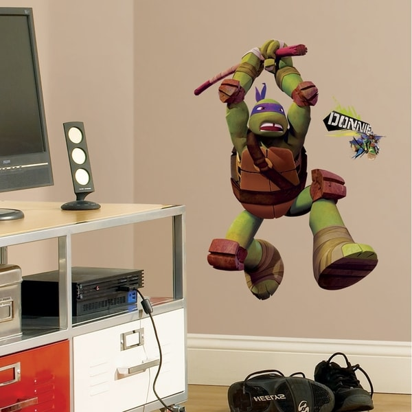 Teenage Mutant Ninja Turtles Don Peel & Stick Giant Wall Decals 11188111
