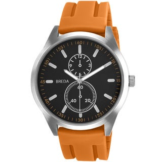 Breda Men's 'Connor' Orange Silicone Band Watch