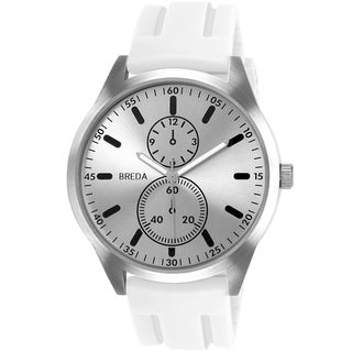 Breda Men's 'Connor' White Silicone Band Watch