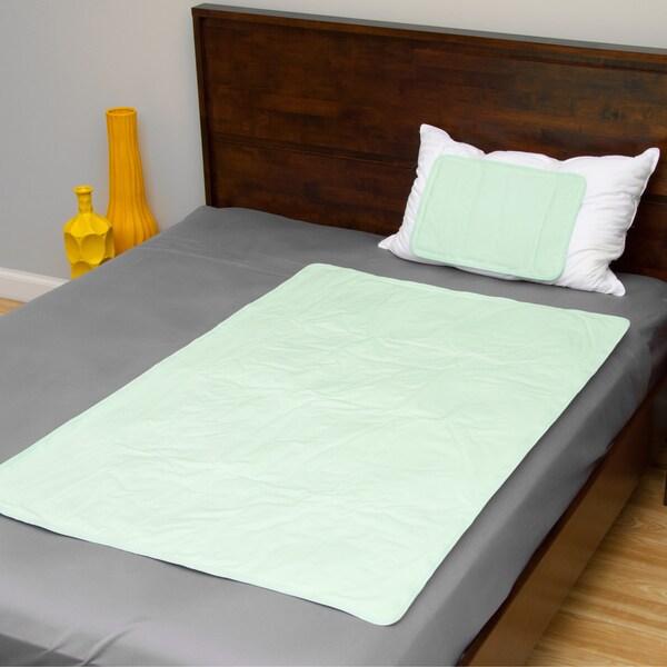The Original Cool Slumber Gel Pillow Pad and Large Mattress Pad 2-piece Set
