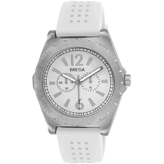 Breda Men's 'Ryder' White Silicone Strap Watch