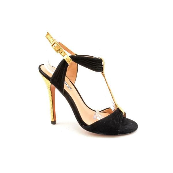 Charles David Women's 'Society' Black Regular Suede Sandals