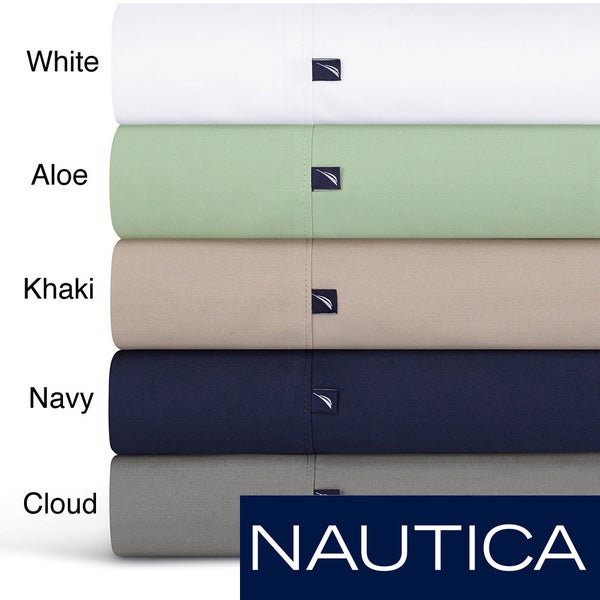Nautica 100-percent Cotton 300 Thread Count Sheet Set or Pillowcase Separates