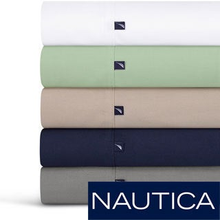 Nautica 100-percent Cotton 300 Thread Count Sheet Set or Pillowcase Separates