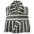 Salbakos Jacquard Multi-stripe Yarn Dyed Velour Robe