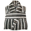 Salbakos Jacquard Multi-stripe Yarn Dyed Velour Bath Robe