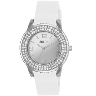 Breda Women's 'Robin' White Silicone Band Watch