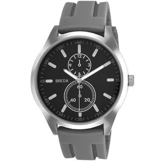 Breda Men's 'Connor' Grey Silicone Band Watch