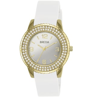 Breda Women's 'Robin' White/ Goldtone Watch