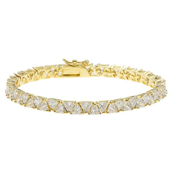 Kate Bissett Gold Overlay Trillion-cut Cubic Zirconia Remembrance Bracelet
