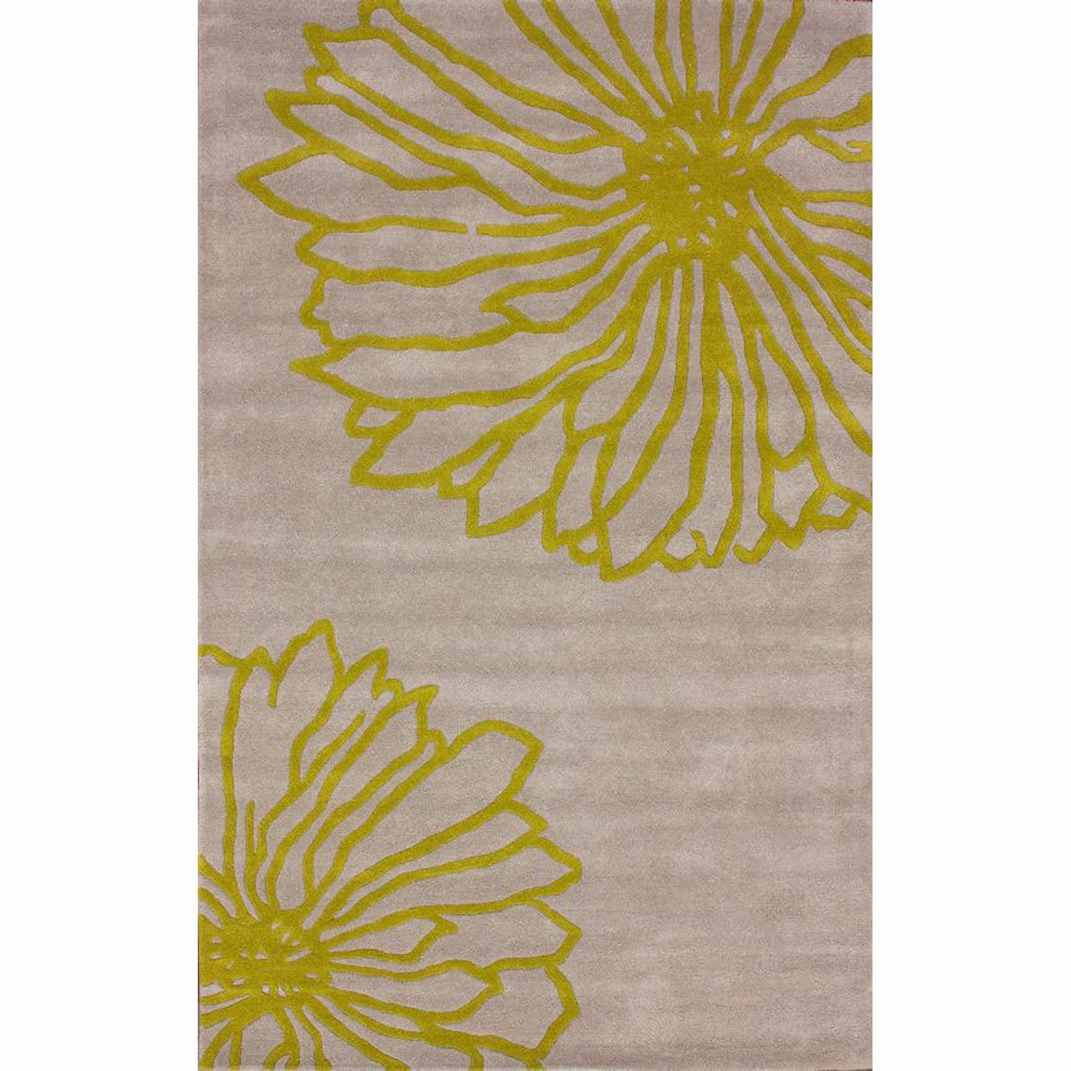 nuLOOM Handmade Floral Gray New Zealand Wool Rug (5' x 8') at Sears.com