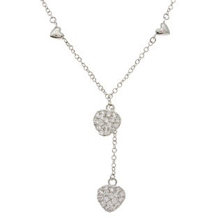 Kate Bissett Heart Pave-set Cubic Zirconia Charm Necklace