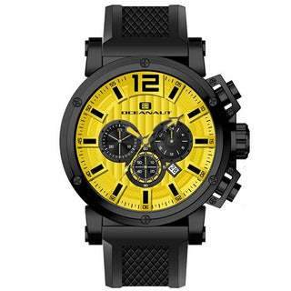 Oceanaut Men's Loyal Chronograph Watch with Yellow Dial