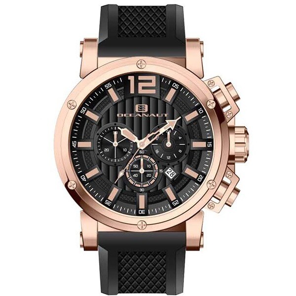 Oceanaut Men's Loyal Black Chronograph Watch
