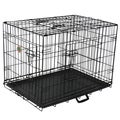 Go Pet Club Black Metal 3-Door 36-inch Pet Cage