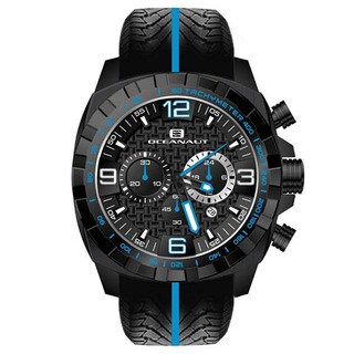 Oceanaut Men's Fair-Play Black Silicon Bracelet Chronograph Watch