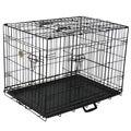 Go Pet Club Black Metal 3-Door 30-inch Pet Cage