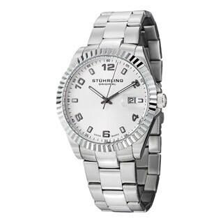 Stuhrling Original Men's Regency Quartz Stainless Steel Bracelet Watch