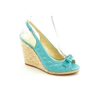Enzo Angiolini Women's 'Irista' Leather Aqua Dress Shoes