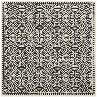 Safavieh Handmade Moroccan Cambridge Black Wool Rug (8' Square)