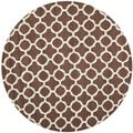Safavieh Handmade Cambridge Moroccan Dark Brown Pure Wool Rug (6' Round)