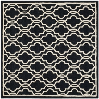 Safavieh Handmade Cambridge Moroccan Casual Black Wool Rug (6' Square)