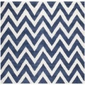 Safavieh Handmade Moroccan Cambridge Chevron Navy Wool Rug (6' Square)