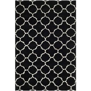 Safavieh Chatham Black Handmade Moroccan Contemporary Wool Rug (4' x 6')