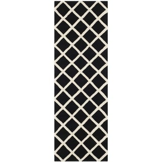 Safavieh Handmade Moroccan Chatham Black Wool Rug (2'3 x 7')