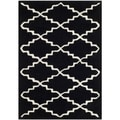 Handmade Moroccan Black-and-White Wool Rug (2' x 3')