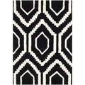 Safavieh Contemporary Handmade Moroccan Black Wool Rug (2' x 3')