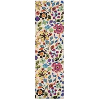 Safavieh Four Seasons Indoor/ Outdoor Hand-hooked Ivory Rug (2' x 6')