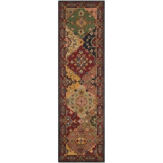 Handmade Heritage Majesty Red Wool Rug (2'3 x 12')