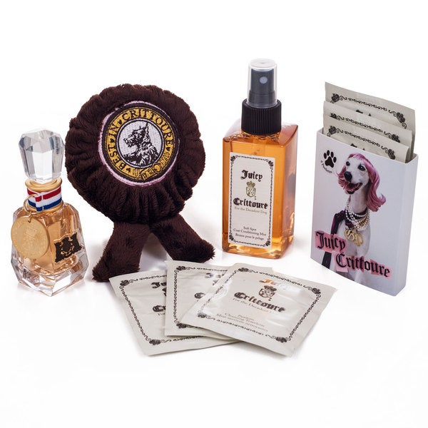 Juicy Crittoure Conditioning Mist Parfum and Toy 4-piece Gift Set