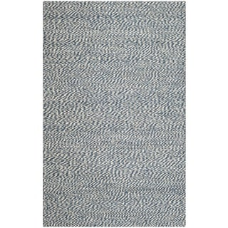 Safavieh Handwoven Doubleweave Sea Grass Blue Rug (5' x 8')