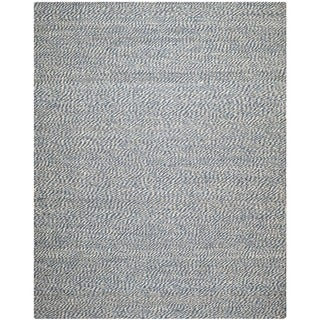 Handwoven Doubleweave Sea Grass Blue Rug (9' x 12')
