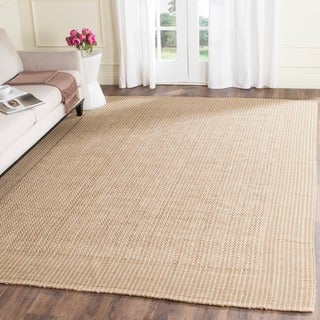 Handwoven Natural Fiber Loop Jute Beige Rug (6' Square)