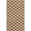 Safavieh Hand-hooked Newport Chocolate/ Ivory Cotton Rug (2'6 x 4'3)