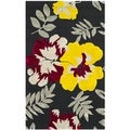 Safavieh Hand-hooked Wilton Black/ Multi New Zealand Wool Rug (2'6 x 4'3)