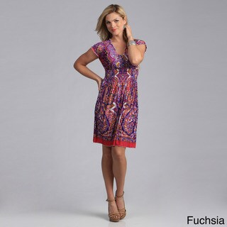 Just Funky Women's Paisley Print Knit Dress