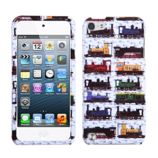 INSTEN Retro Trains/ White iPod Case Cover for Apple iPod Touch 5th Generation