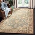 Safavieh Hand-made Anatolia Teal/ Camel Wool Rug (5' x 8')