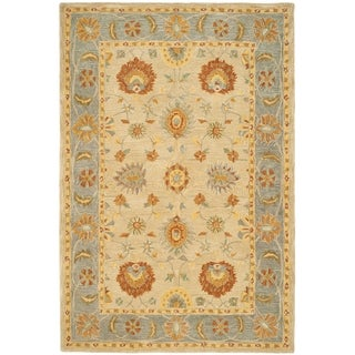 Safavieh Hand-made Anatolia Taupe/ Grey Wool Rug (5' x 8')