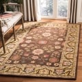 Safavieh Hand-made Anatolia Brown/ Gold Wool Rug (4' x 6')