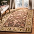 Safavieh Hand-made Anatolia Brown/ Gold Wool Rug (6' x 9')
