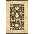 Safavieh Hand-made Anatolia Chocolate/ Ivory Wool Rug (5' x 8')