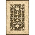 Safavieh Hand-made Anatolia Chocolate/ Ivory Wool Rug (6' x 9')